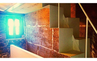 #Mur de #tapia + mur de #pedra + #escala #samba . #canpiferrer #estructures #construccio #codiestudi #constructionporn